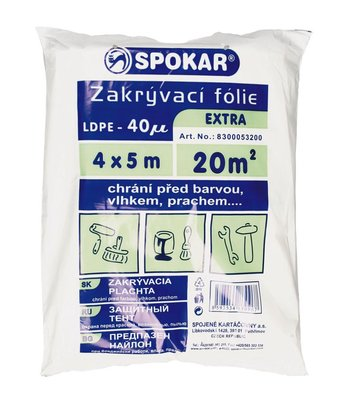 Spokar plachta 4x5 40MY LDPE
