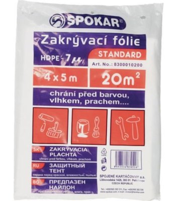 Spokar plachta 4x5m 7MY HDPE